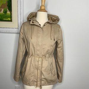 Ambiance Tan Utility Field Military Anorak Jacket